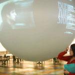 projection vidéo sur bulle gonflable