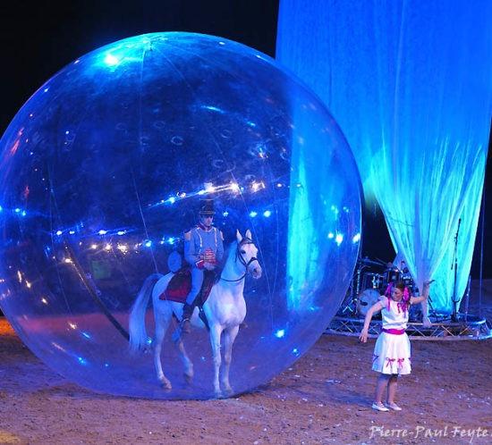 cheval dans une bulle